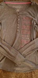 Aeropostile long sleeve ribbed t shirt,